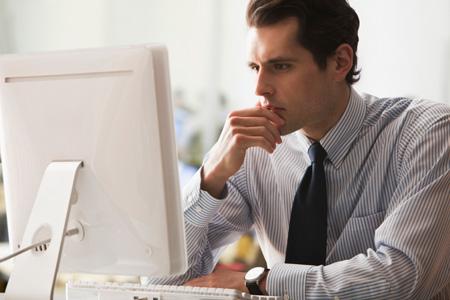 Kết quả hình ảnh cho guy looking at computer